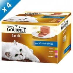 GOURMET GOLD Les Mousselines Multivariétés - 24 x 85 g (x4) - Pour chat adulte