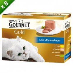 GOURMET Gold Coffret Les mousselines - Pour chat adulte - (x8)