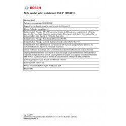 BOSCH SPI25CW03E - Lave vaisselle encastrable - 9 couverts - 46 dB - A+ - L 45 cm - Bandeau blanc