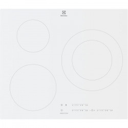 ELECTROLUX LIT60342CW - Table de cuisson induction - 3 zones - 7350 W - L 59 x P 52 cm - Revetement verre - Blanc
