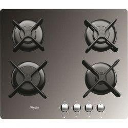 WHIRLPOOL AKT2000MR Table de cuisson gaz - 4 foyers - 7800W - L59 x P51cm - Revetement verre trempé - Miroir