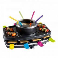 LIVOO DOC107 Appareil a raclette et fondue 8 personnes - Noir