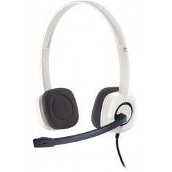 Logitech casque filaire Stereo - H150 W