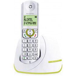 Alcatel F390 Solo Téléphone Sans Fil Sans Répondeur Blanc Vert