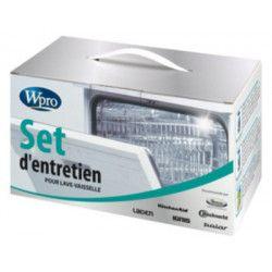 WPRO KTR100 Set d`entretien lave-vaisselle contenant : 4 détartrants DES001 + 4 nettoyants DDG001 + 1