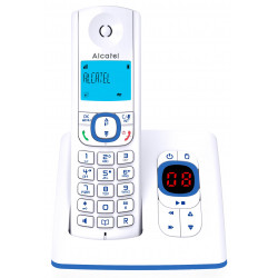 Alcatel F530 Téléphone DECT Identification de l'appelant Bleu, Blanc