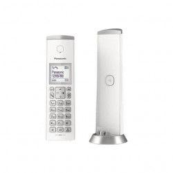 PANASONIC Téléphone résidentiel dect design - TGK220 - avec répondeur - Blanc