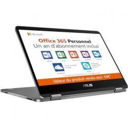 PC Portable ASUS VivoBook Flip TP401MA-BZ080TS - 14` HD - Tactile - Pentium N5000 - RAM 4Go - Stockage 64Go -