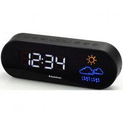 AUDIOSONIC CL-1489 Radio Réveil Prévision météo - Réglage de la luminosité