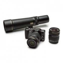 KODAK S-1 Appareil photo hybride - Vidéo Full HD - 16MP CMOS - WiFi - Noir + 3 optiques + 2 étuis + Carte mémoire 16 Go