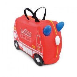 TRUNKI Valise Porteur a roulettes pour enfants- Voiture de PompierFrank