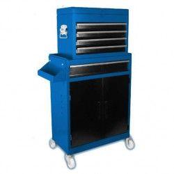 DOMAC Servante d`atelier 7 tiroirs en métal avec bac de rangement vide