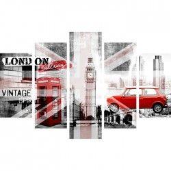 LONDON Multi Tableaux déco 100x150cm