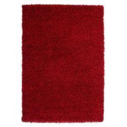 TRENDY Tapis de couloir Shaggy en polypropylene - 80 x 140 cm - Rouge