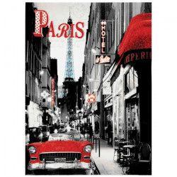 Tableau déco toile imprimée Paris Hôtel 50x70 cm