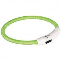 TRIXIE Flash Anneau lumineux USB XS?S: 35 cm/ø 7 mm vert pour chien