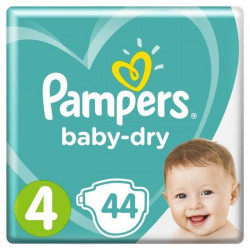 Couches baby dry T4 x 44 Pampers