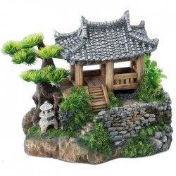 AQUA DELLA Décor Korean-Cottage - 22,5x19x18,5cm - Pour aquarium