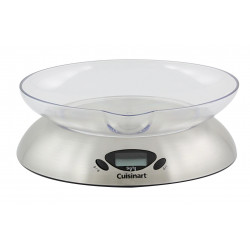 CUISINART SCA5CE Balance de cuisine avec bol - Inox
