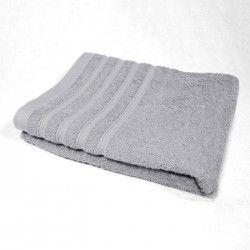 DOUCEUR D'INTERIEUR Serviette de toilette 100% coton Vitamine 50x90 cm gris perle