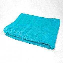 DOUCEUR D'INTERIEUR Drap de douche 100% coton Vitamine 70x130 cm turquoise