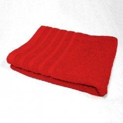 DOUCEUR D'INTERIEUR Drap de bain 100% coton Vitamine 90x150 cm rouge