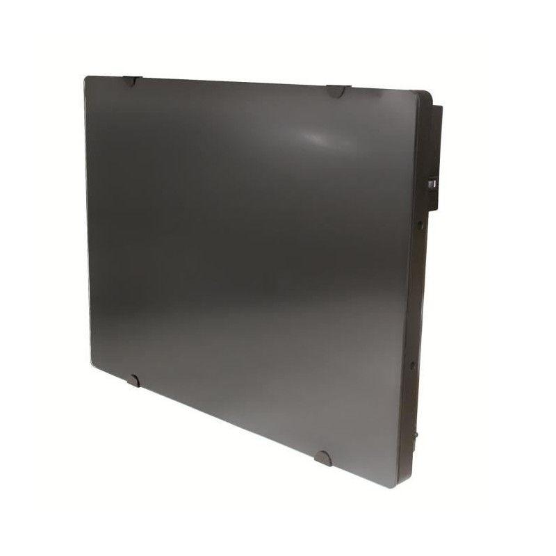 alpina verre noir lcd 2000 watts radiateur panneau rayonnant fa ade. Black Bedroom Furniture Sets. Home Design Ideas