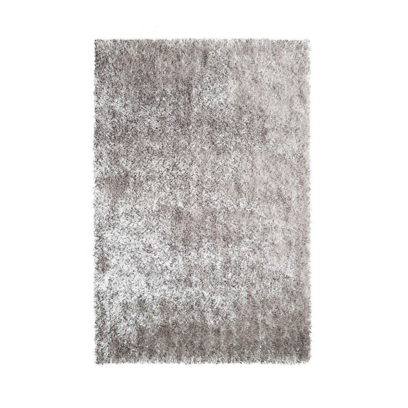 tapis de salon shaggy 100 polyester lilou taupe 160x230 cm. Black Bedroom Furniture Sets. Home Design Ideas