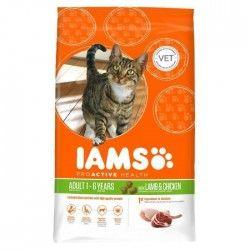 IAMS Croquettes a l'agneau et au poulet - Toutes races - 15kg - Pour chat adulte