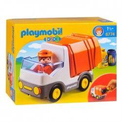PLAYMOBIL 1.2.3. 6774 Camion Poubelle