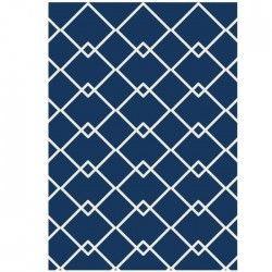 tapis de salon scandinave 160x230 cm bleu et beige. Black Bedroom Furniture Sets. Home Design Ideas