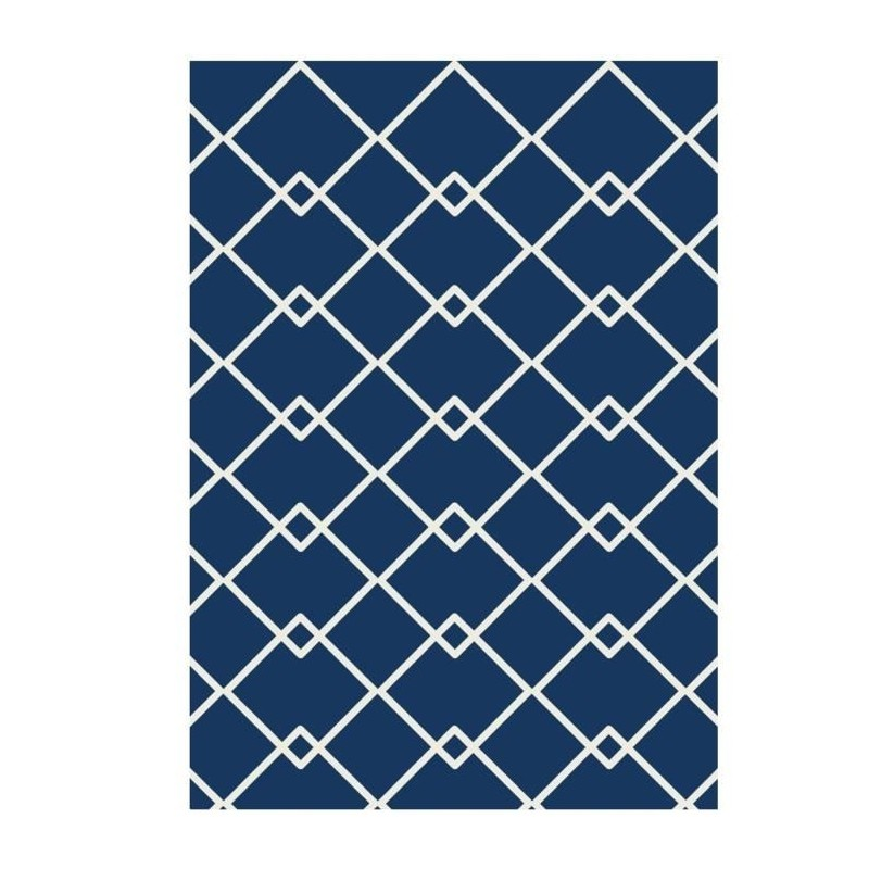 tapis de salon scandinave 160x230 cm bleu et beige. Black Bedroom Furniture Sets. Home Design Ideas