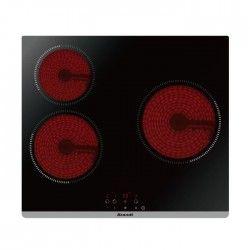 BRANDT BPV6321B - Table de cuisson vitrocéramique-3 zones-5300W-L60cm-Revetement verre-Noir