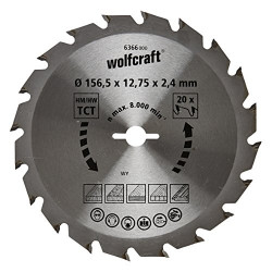 WOLFCRAFT Lame scie circulaire CT - 20 dents - Ø 156.5 x 12.75 mm