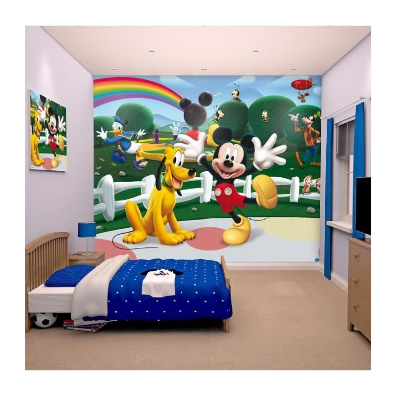 papier peint enfant mickey sticker g ant fresque murale d corative. Black Bedroom Furniture Sets. Home Design Ideas