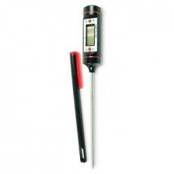 YOKO DESIGN Thermometre digital pour sucre et confitures noir et rouge