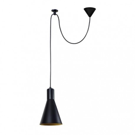 tosel suspension krake 20 cm hauteur 150 cm e27 40w noir et or. Black Bedroom Furniture Sets. Home Design Ideas