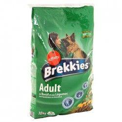 BREKKIES Croquettes au boeuf et aux légumes pour chien adulte 10kg (1)