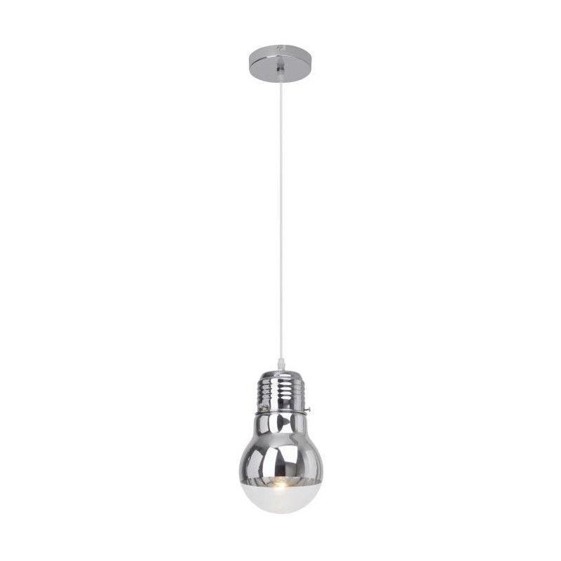 brillant suspension a 1 lumiere forme ampoule bulby e27. Black Bedroom Furniture Sets. Home Design Ideas