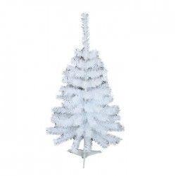 Sapin de Noël artificiel Canada 90 branches hauteur 90 cm blanc