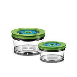 Bosch MMZV0SB2 boîte hermétique alimentaire Rond Vert, Transparent 2 pièce(s)