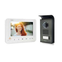 EXTEL Visiophone Nova 2 fils blanc avec écran couleur 7` a mémoire de passage