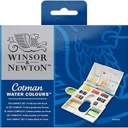 WINSOR & NEWTON Boîte compact cwc 1/2gx14