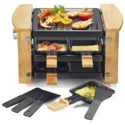 KitchenChef KCWOOD.4RP raclette 4 personne(s) 650 W Noir, Bois