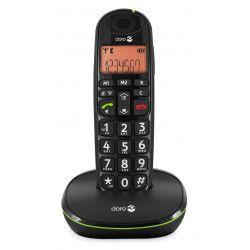 Téléphone Doro PhoneEasy Sans Fil 100 W Noir