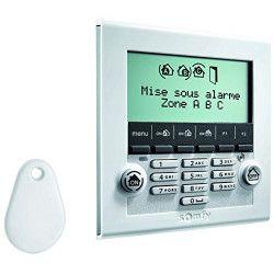 SOMFY Clavier de contrôle a écran LCD ultra-plat avec 1 badge Protexiom