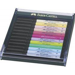 FABER-CASTELL Boîte de 12 feutres pastel