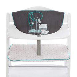 Hauck 2-piece highchair pad Coussin de chaise haute Gris, Blanc