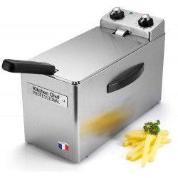 Friteuse Kitchen Chef KCFR4L 2500 W Argent
