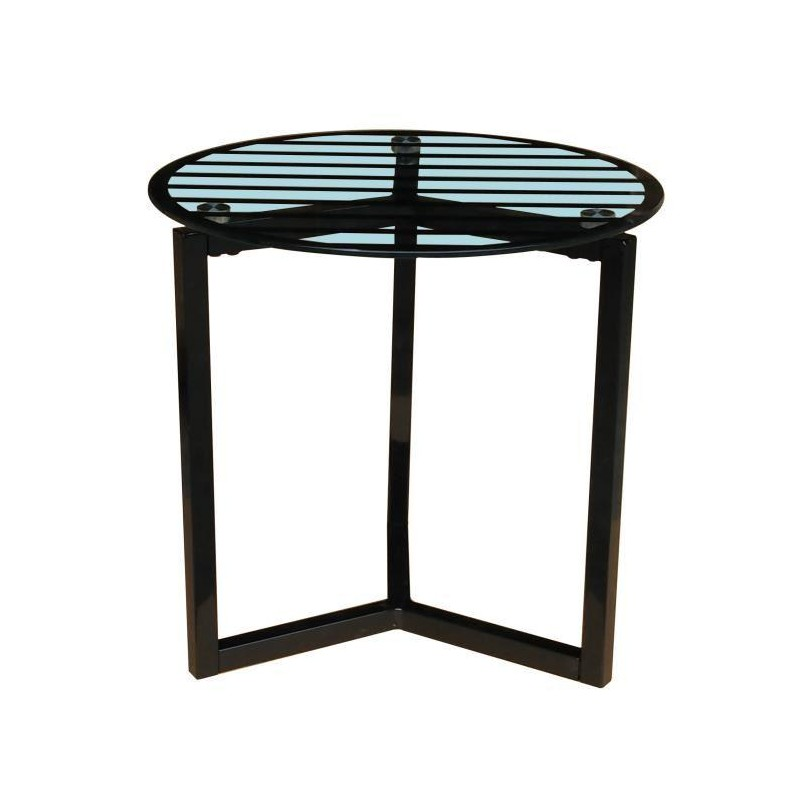 Pedro table basse style contemporain en acier laqu poxy for Table basse acier noir